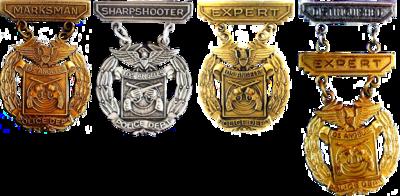 LAPD's schietvaardigheidsbadges