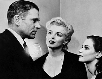 Susan Strasberg - Laurence Olivier and Marilyn Monroe visit Strasberg backstage at The Diary of Anne Frank