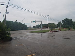 Intersection of U.S. 50 and State Road 37 from the Speedway gas station in Marion Township