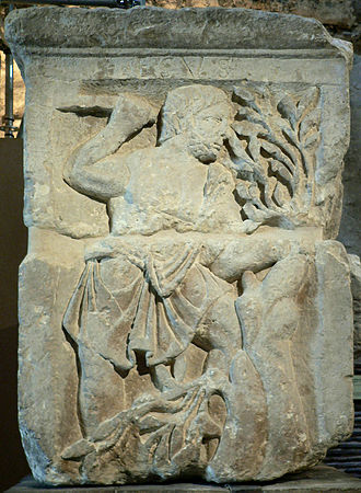 Esus - Image of Esus on the Gallo-Roman Pillar of the Boatmen, first century CE.