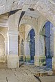 Le chateau de Beynac, la base du grand escalier et la petite cour interieure, commune de Beynac-et-Cazenac, Dordogne, France.jpg