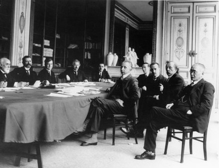 Albert Einstein at a session of the International Committee on Intellectual Cooperation (League of Nations) of which he was a member from 1922 to 1932. League of Nations Commission 067.tif