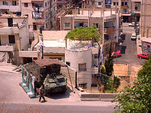Bab al-Tabbaneh–Jabal Mohsen conflict - Lebanese army personnel on Syria Street, guarding the road between Bab al-Tabbaneh and Jabal Mohsen in 2011