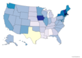 Legalization of Same-sex Marriage in the United States by year.png