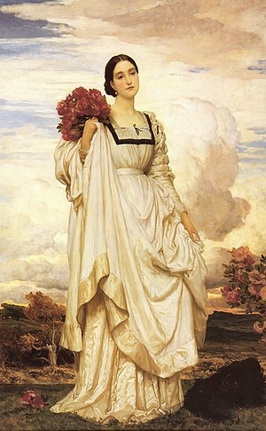 Adelbert Brownlow-Cust, 3rd Earl Brownlow - The Countess Brownlow by Frederic Leighton, 1879.