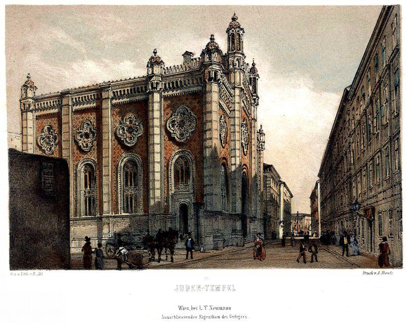 Leopoldstädter Tempel 1860 Rudolf von Alt Lithographie.jpg