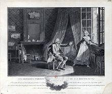 Un homme assis tend une main vers une fenêtre qu'une femme vient d'ouvrir en le regardant.