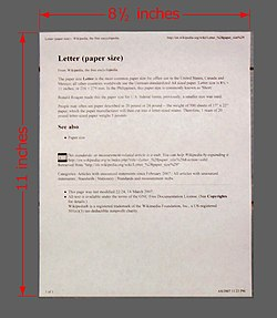 Letter (paper size) - Wikipedia, the free encyclopedia