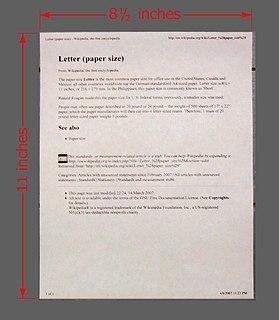 Letter (paper size) Paper size