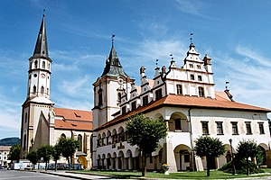 Levoča, Spiš Castle and the associated cultural monuments - Town hall and Basilica of St. James