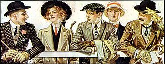Troy, New York - Illustration for Arrow Collar, 1907. J.C. Leyendecker.