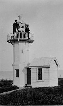 Lyshus på Jack's Point, Timaru, NZ (ca. 1904) .jpg