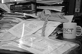 Busy work - Image: Lightmatter paperwork