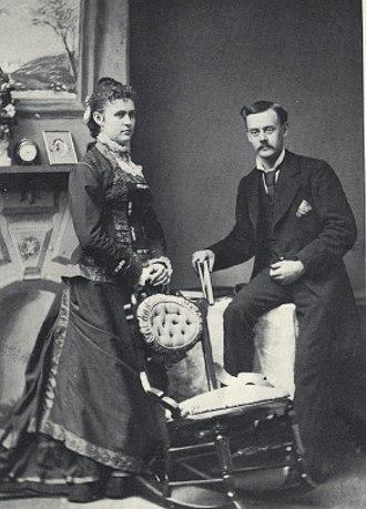 Frank Jay Haynes - Lily Snyder and F. Jay, January 1878