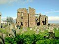 Lindisfarne Priory from the churchyard - geograph.org.uk - 806498.jpg