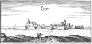 Siege of Lingen (1605) - View of Lingen by Matthäus Merian.