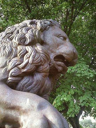 Fairmount Park - One of the Florentine lions