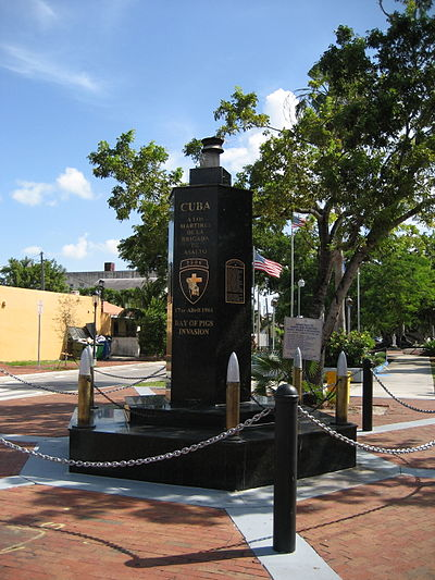 The Bay of Pigs Memorial in Little Havana, Miami LittleHavanOct06BayOfPigsMonument.jpg
