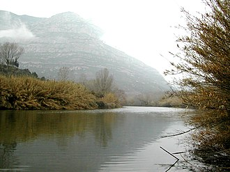 Llobregat - View of the Llobregat River in Olesa de Montserrat