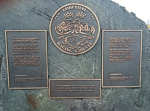 1939 Australian Grand Prix - This plaque, which commemorates the running of the 1939 Australian Grand Prix, is the situated in the main street of Lobethal
