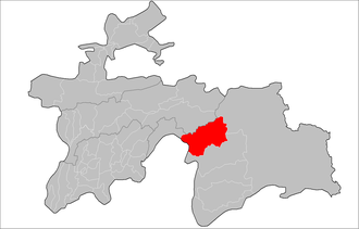 Vanj District - Image: Location of Vanj District in Tajikistan