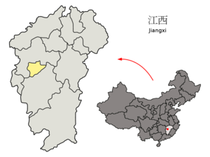 Xinyu - Image: Location of Xinyu Prefecture within Jiangxi (China)
