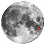 Location of lunar crater langrenus