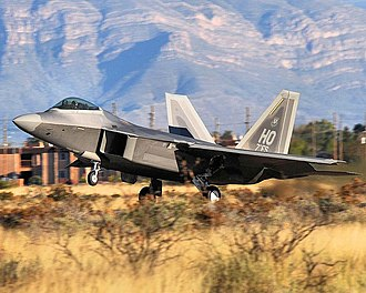 7th Fighter Squadron - 7th Fighter Squadron F-22A Raptor takes off from Holloman AFB