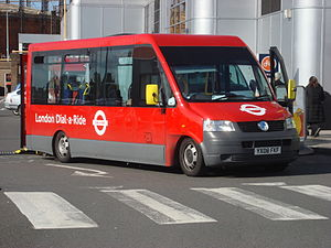 London Dial-a-Ride - A newer dial-a-ride low floor minbus.