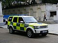 London Skyride Range Rover emergency stand-by vehicle, The Mall, SW1.jpg