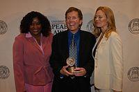 Loretta Devine, David E. Kelley, and Jeri Ryan, May 2003 (5).jpg