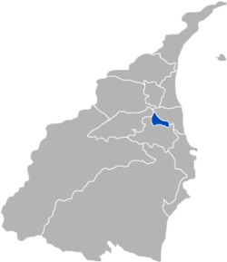 Location of Luodong within Yilan