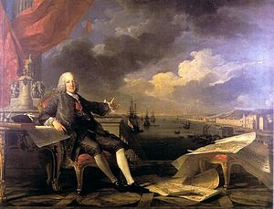 Sebastião José de Carvalho e Melo, 1st Marquis of Pombal - The Marquis of Pombal Enlightening and Rebuilding Lisbon, by Louis-Michel van Loo and Claude Joseph Vernet; 1766.
