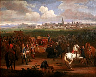 Alsace - Louis XIV receiving the keys of Strasbourg in 1681