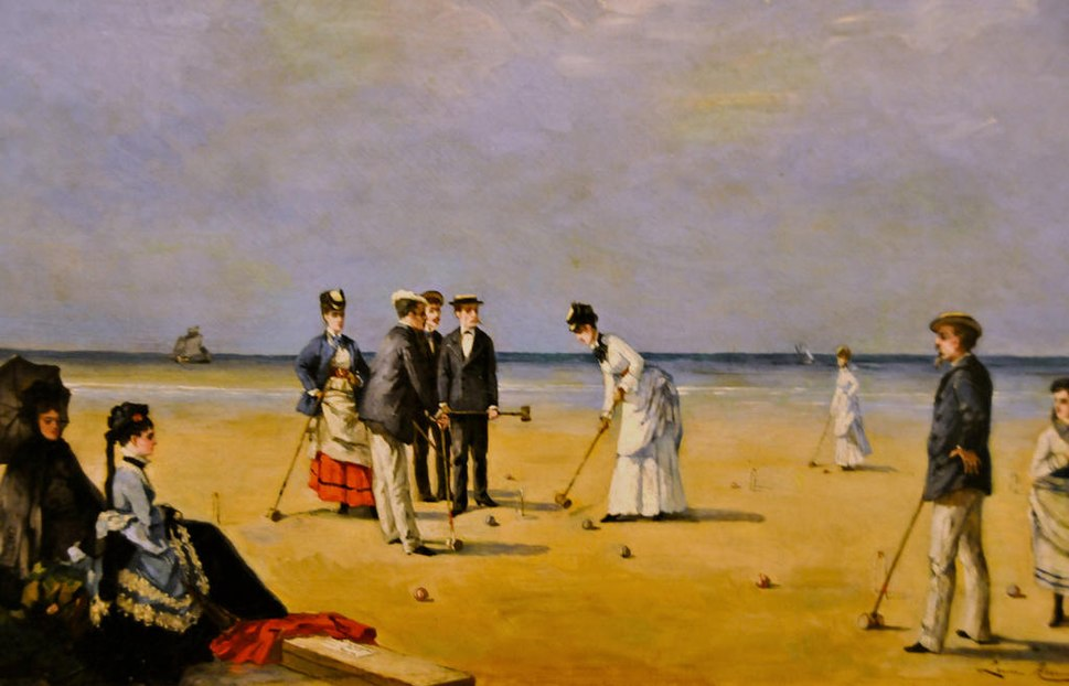 Louise Abbéma - A Game of Croquet
