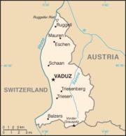 Χάρτης του Λιχτενστάιν