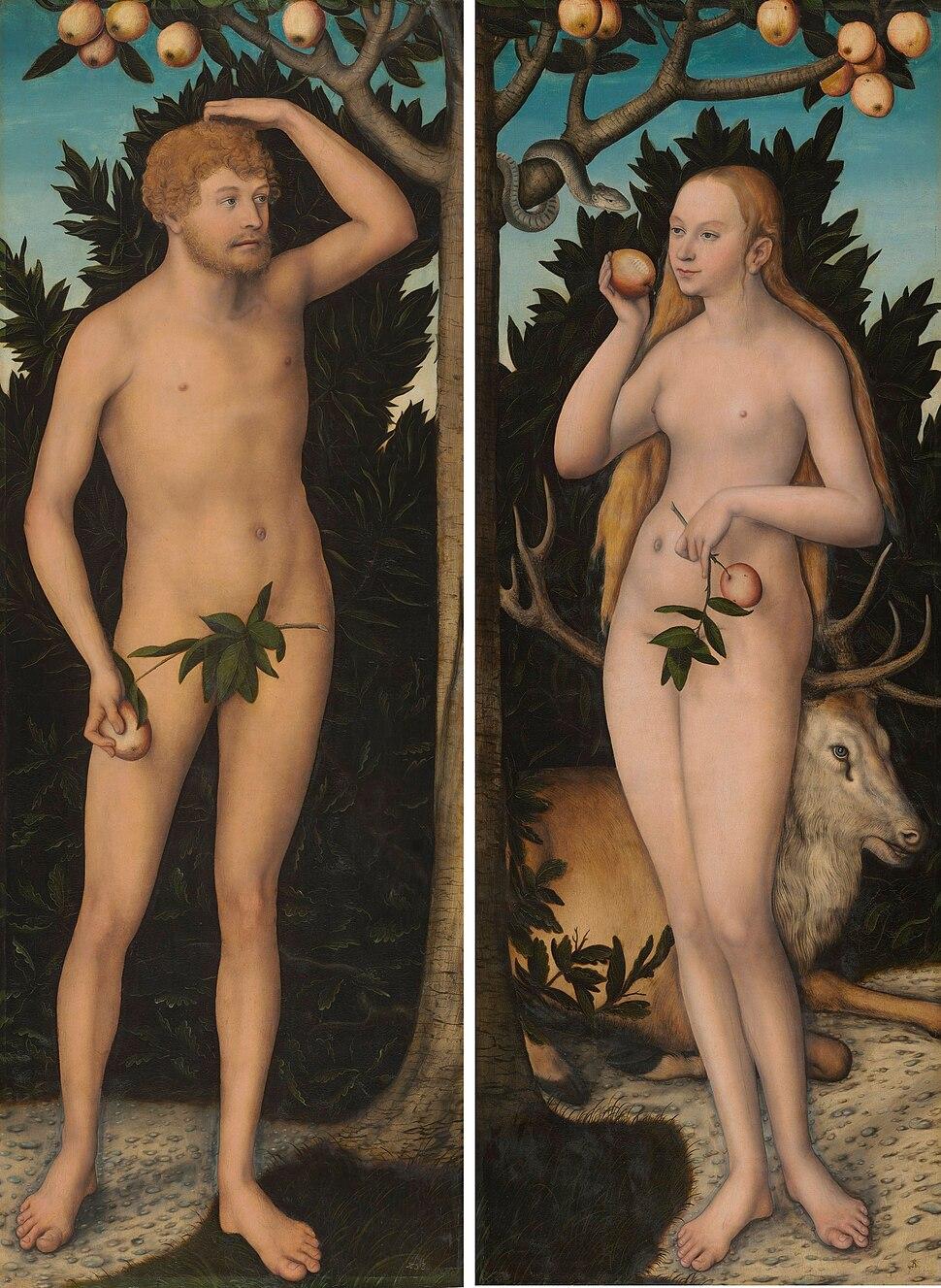 Lucas Cranach d. J. - Adam and Eve - WGA05729