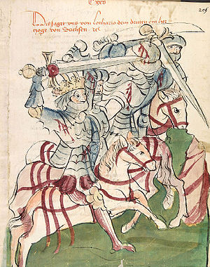 Battle of Chlumec - King Lothar III at the Battle of Chlumec