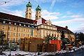 Luise-Kieselbach-Platz Baustelle vor Altenheim St-Josef.JPG