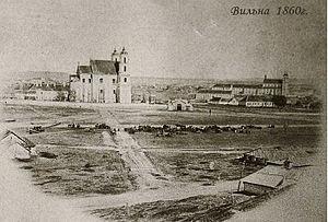 Lukiškės Square - Lukiškės suburb, 1860