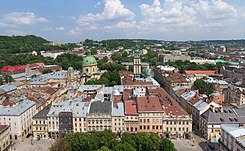 Panorama Lwowa z wieży ratuszowej