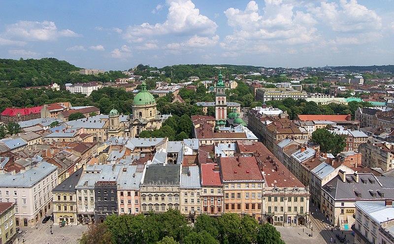 File:Lwów - Widok z wieży ratuszowej 01.jpg