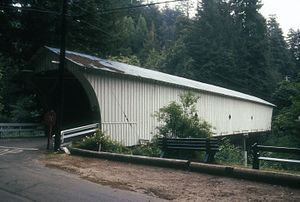 California Powder Works Bridge - Image: MASONIC PARK COVERED BRIDGE, SANTA CRUZ COUNTY, CA