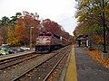 MBTA 1128 outbound at Endicott station, November 2015.JPG
