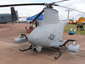 Northrop Grumman MQ-8 Fire Scout - An MQ-8B Fire Scout displayed at the Royal International Air Tattoo, RAF Fairford, Gloucestershire, England, July 2007