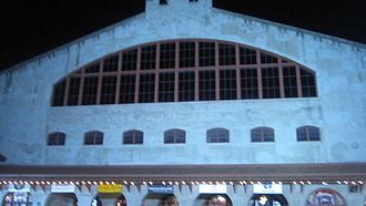 Cowtown Coliseum - Front of Cowtown Coliseum at night prior to the rodeo