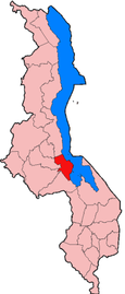 Location of Salima District in Malawi