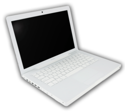 The standard White MacBook