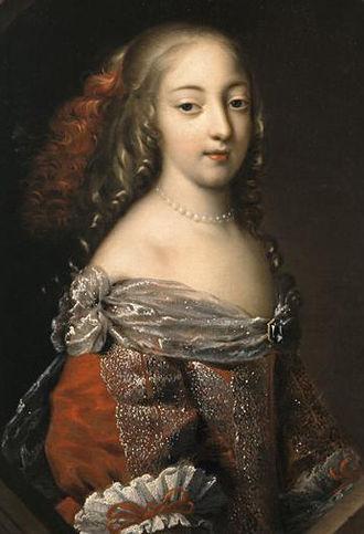 Françoise-Athénaïs de Rochechouart, Marquise de Montespan - Françoise c. 1660, when Mademoiselle de Tonnay-Charente.