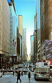 A Madison-Avenue a 40. utcából észak felé nézve
